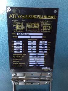 وینچ کشنده سیم بکسلی تمام آلمانی اطلس پلاک اطلاعات فنی